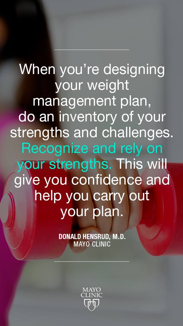 When you're designing your weight management plan quote from Dr. Donald Hendrud