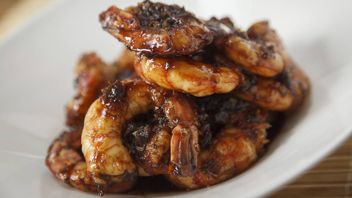 Sesame ginger shrimp