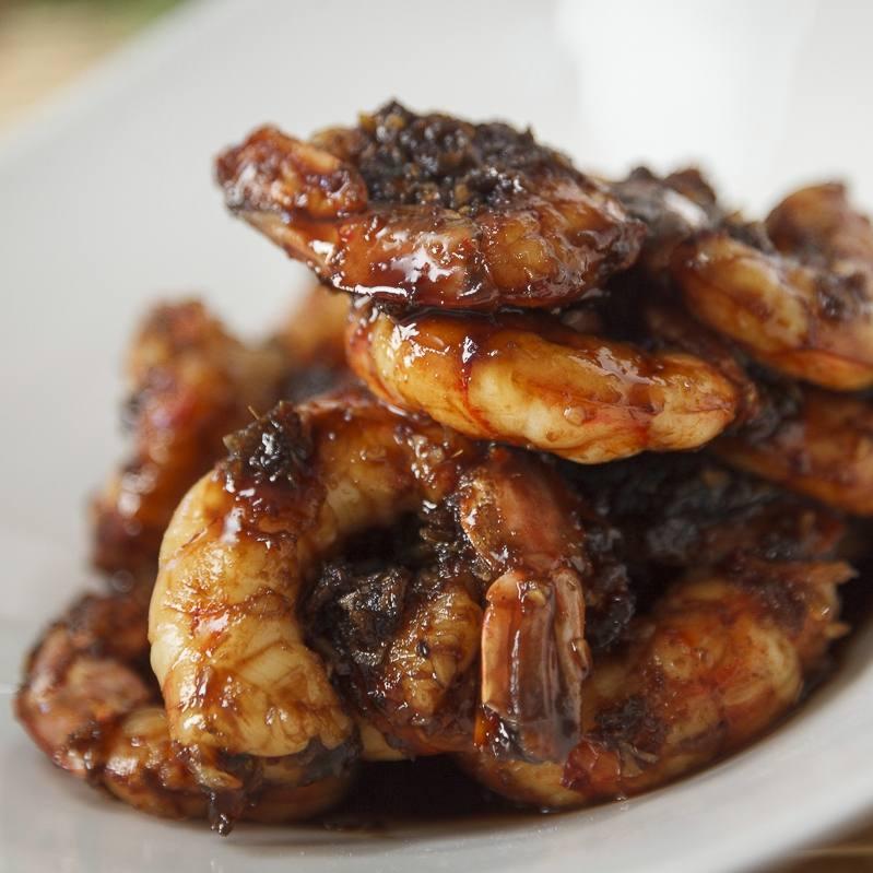 Sesame ginger shrimp