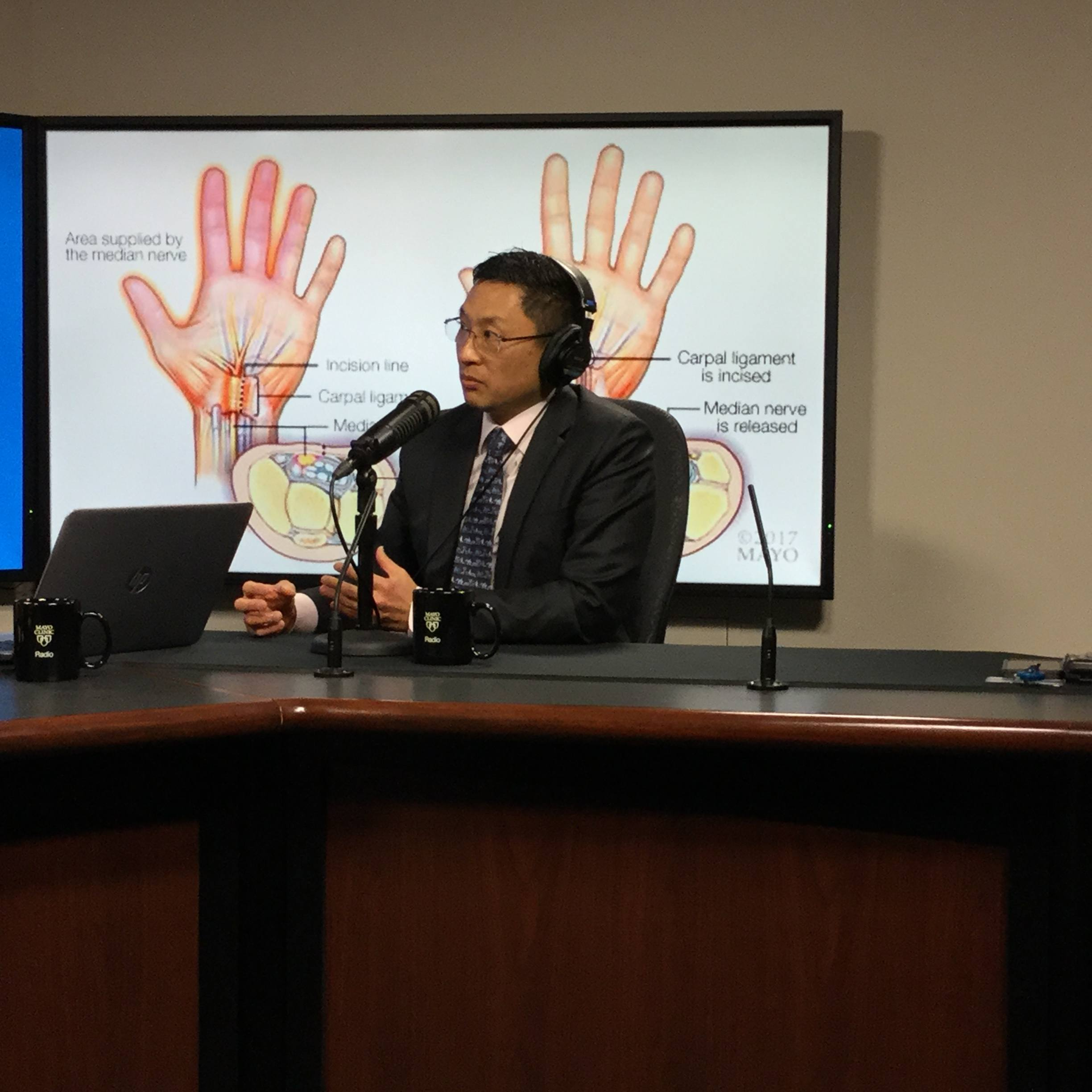 Dr. Alexander Shin being interviewed on Mayo Clinic Radio