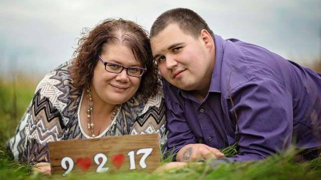 epilepsy patient Chris White and his wife Tina in their engagement picture