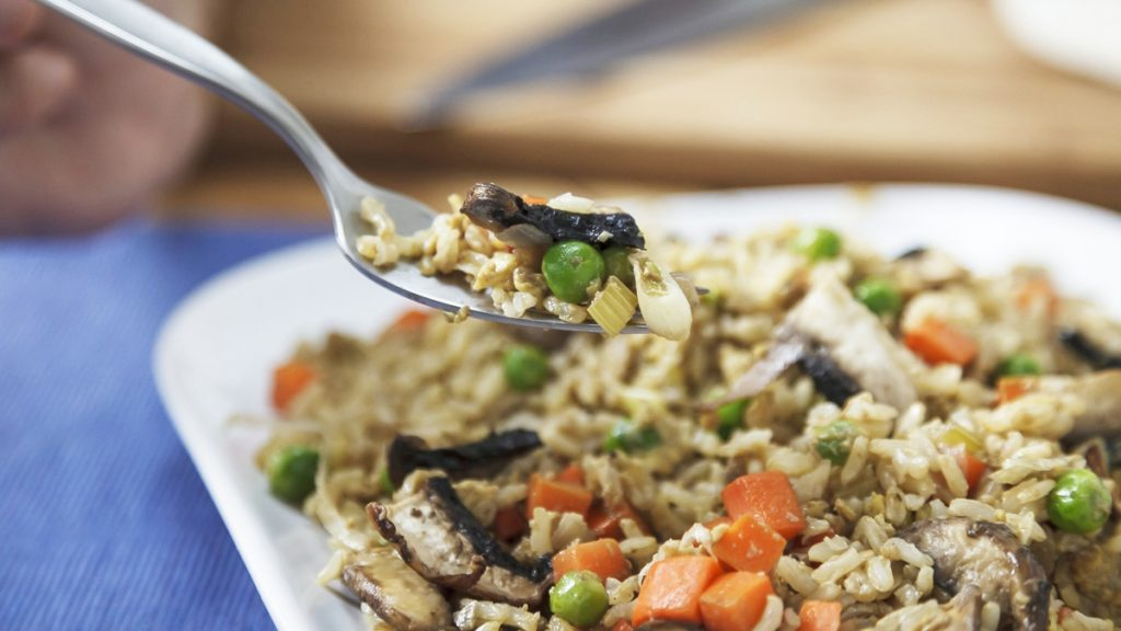 Making Mayo's Recipes: Fried rice with mushrooms