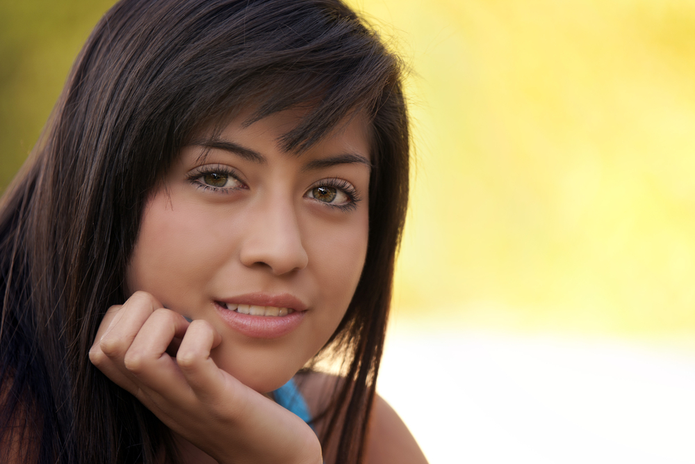 A beautiful young teenage girl
