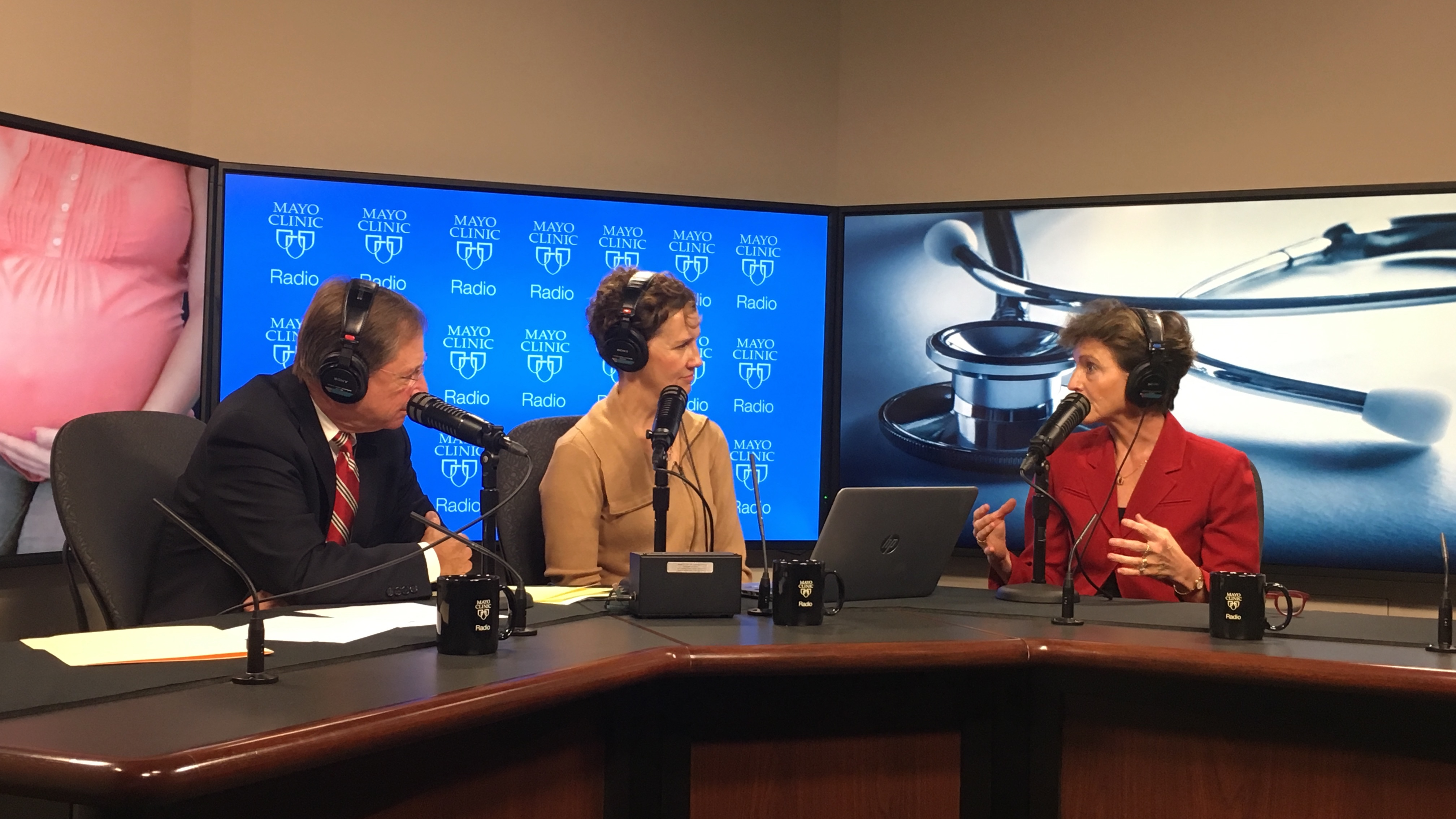 Dr. Sharonne Hayes being interviewed on Mayo Clinic Radio