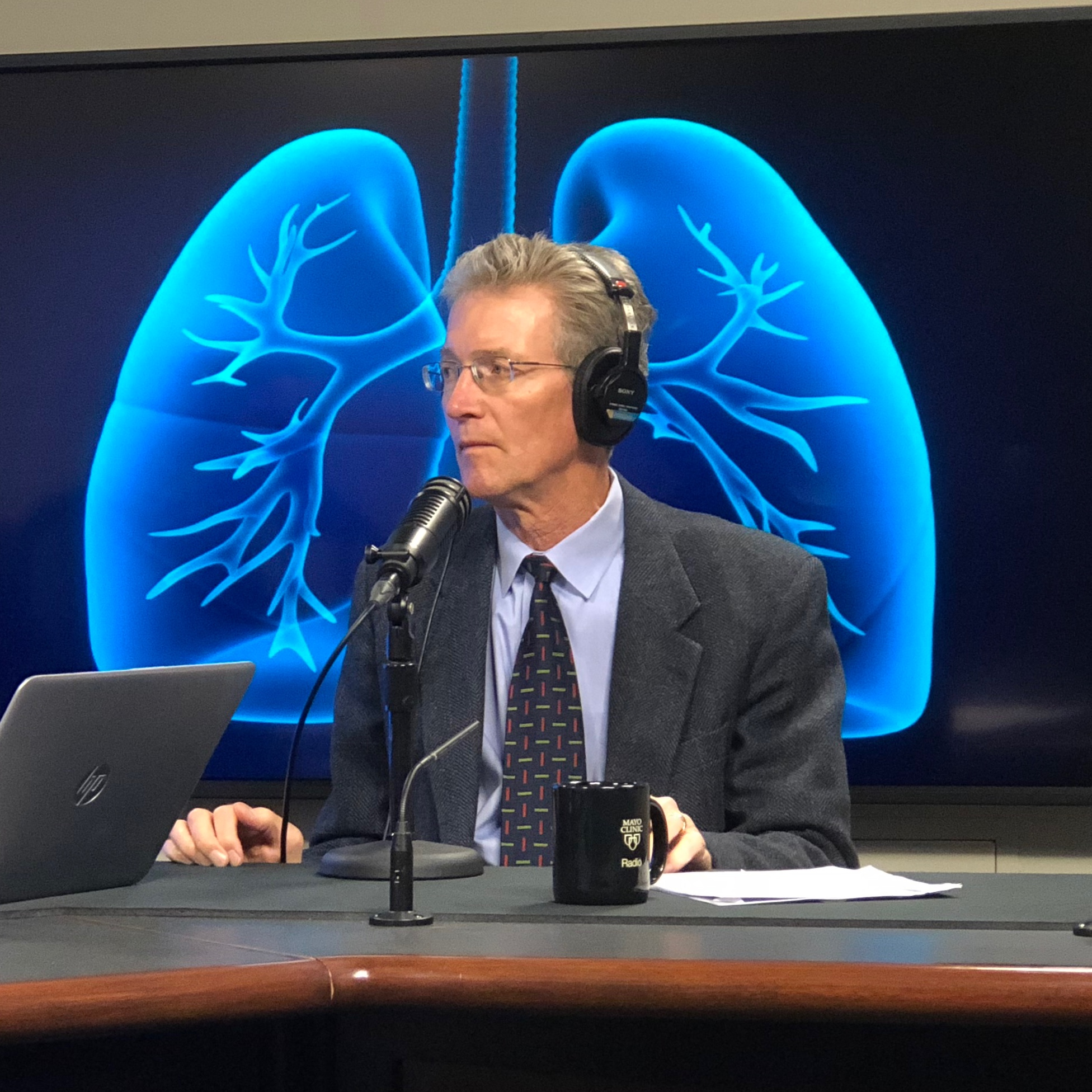 Dr. Paul Scanlon being interviewed on Mayo Clinic Radio