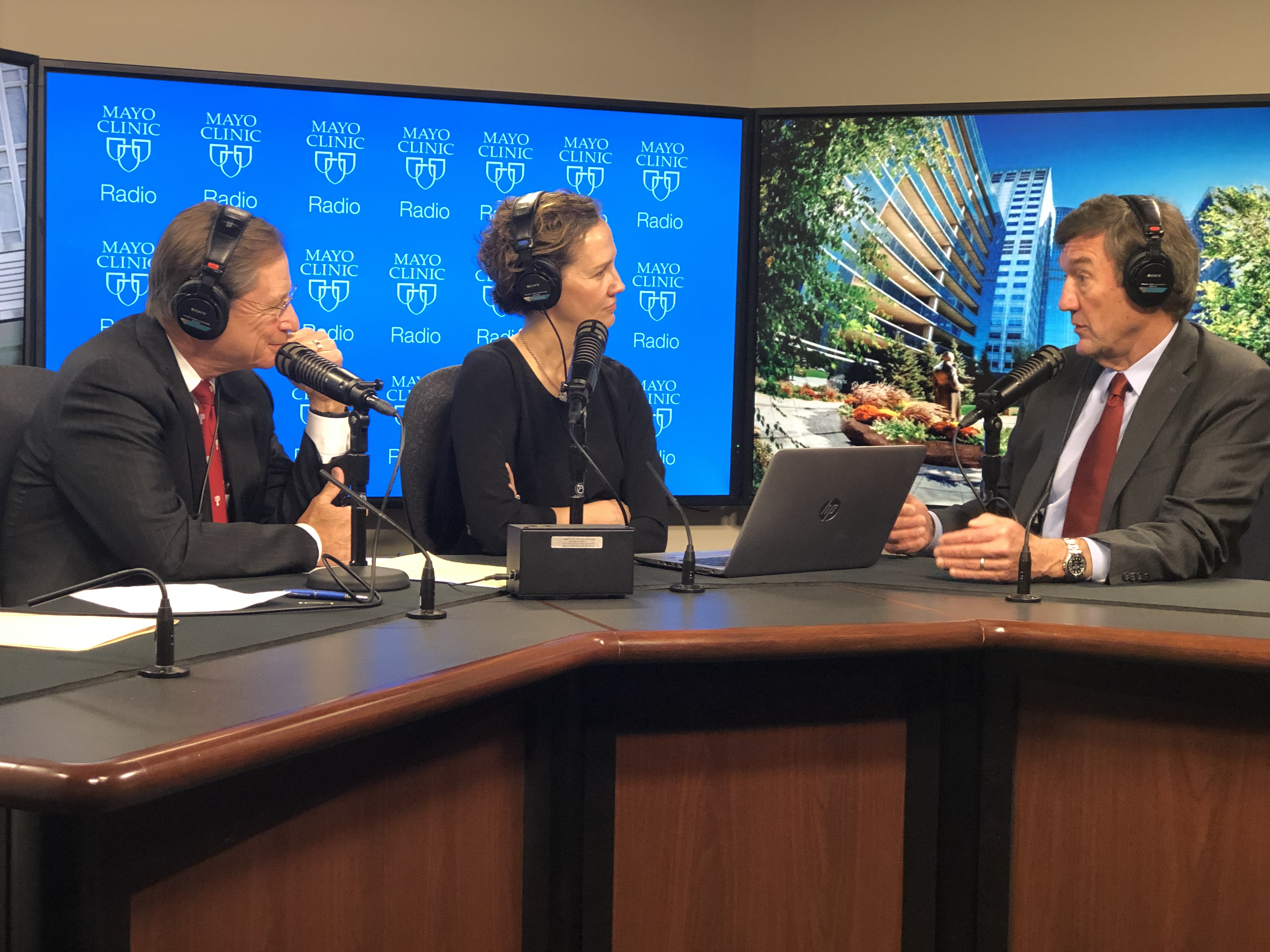 Dr. John Noseworthy being interviewed on Mayo Clinic Radio