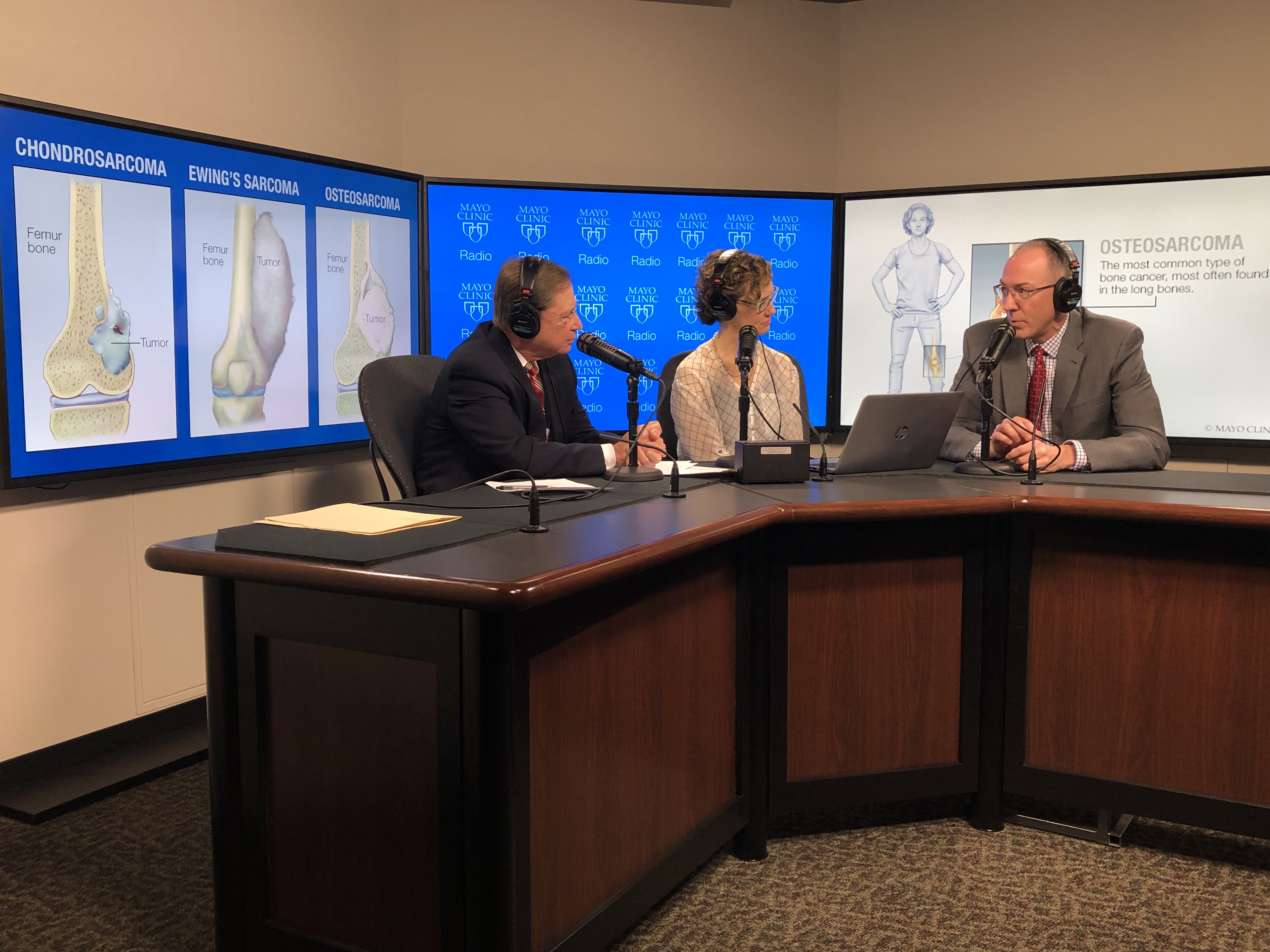 Dr. Peter Rose being interviewed on Mayo Clinic Radio