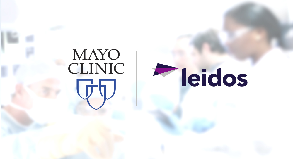 Mayo Clinic and Leidos logos