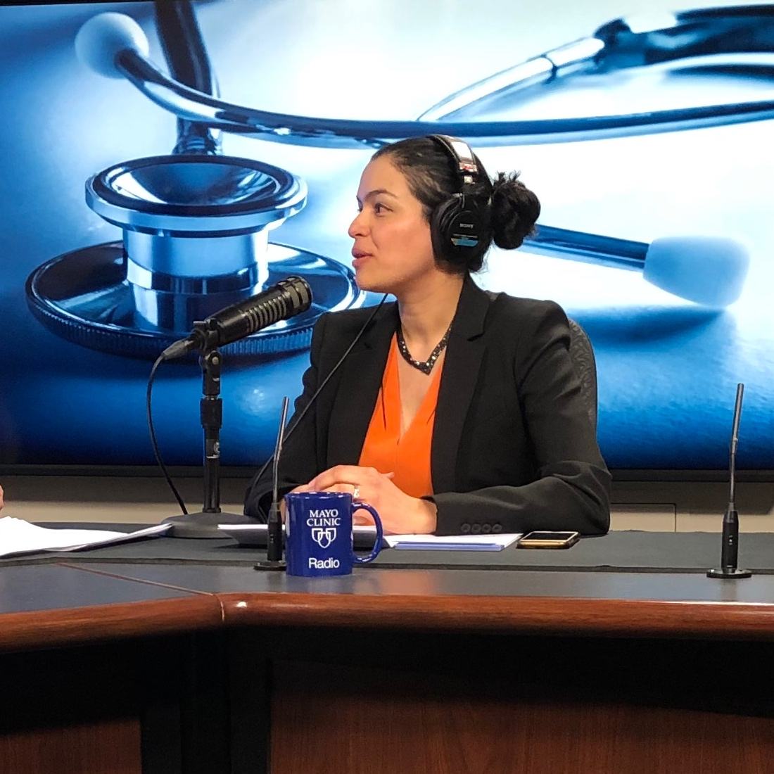 Dr. Ladan Zand being interviewed on Mayo Clinic Radio