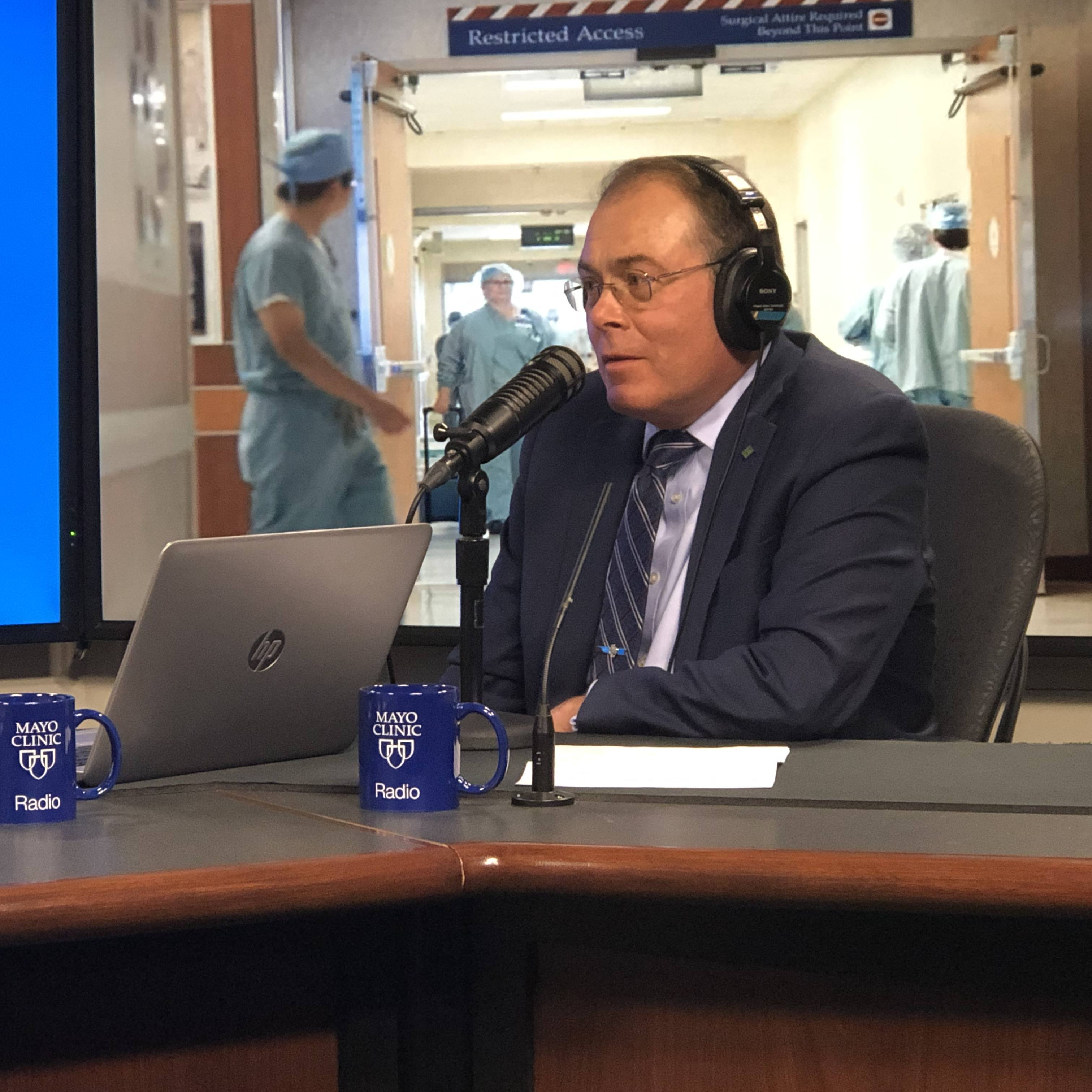 Dr. Charles Rosen being interviewed on Mayo Clinic Radio
