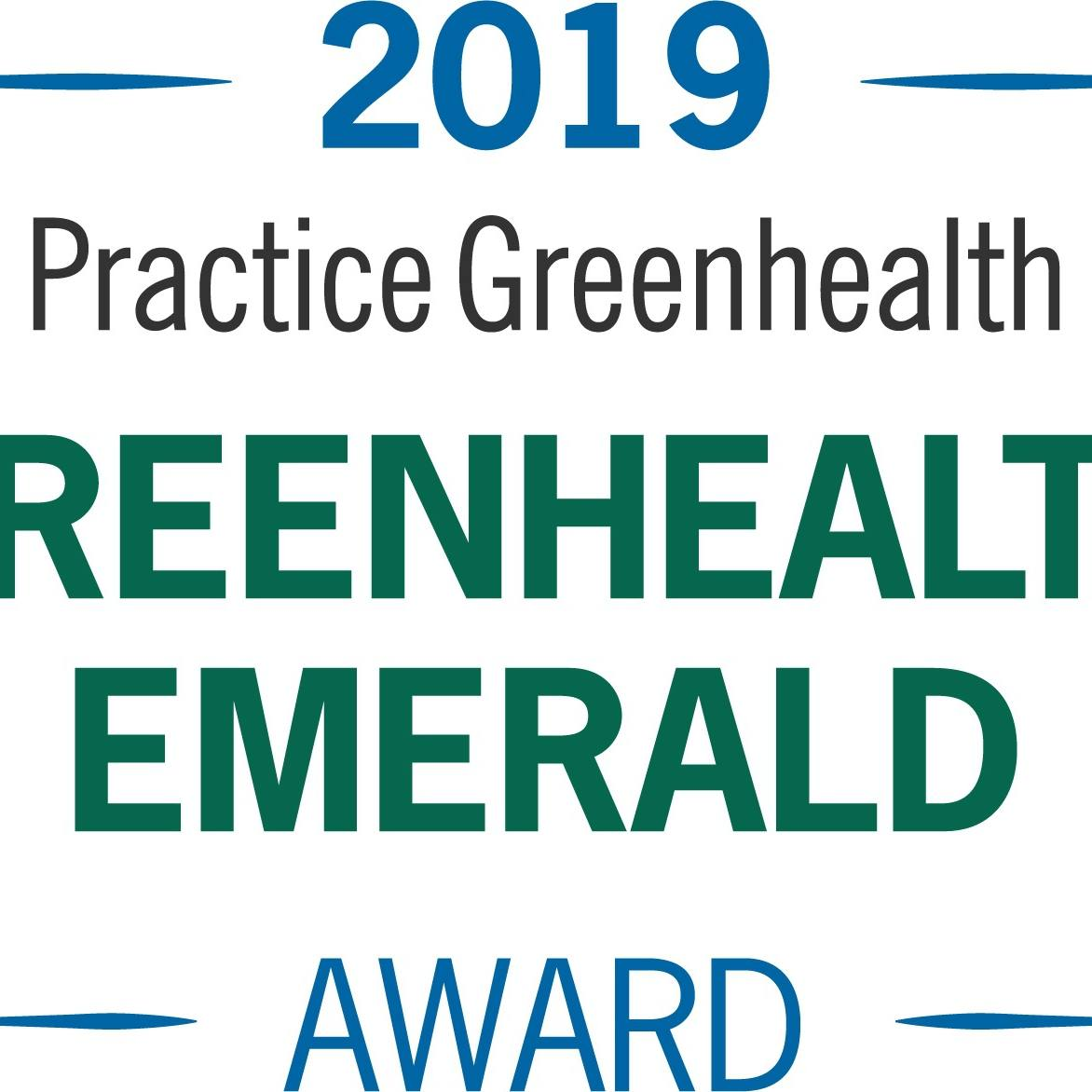 Practice Greenhealth Emerald Award 2019