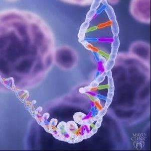 medical illustration of DNA strand