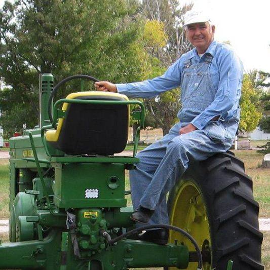 Sharing Mayo Clinic LVAD heart patient Ron Schneider on his tractor