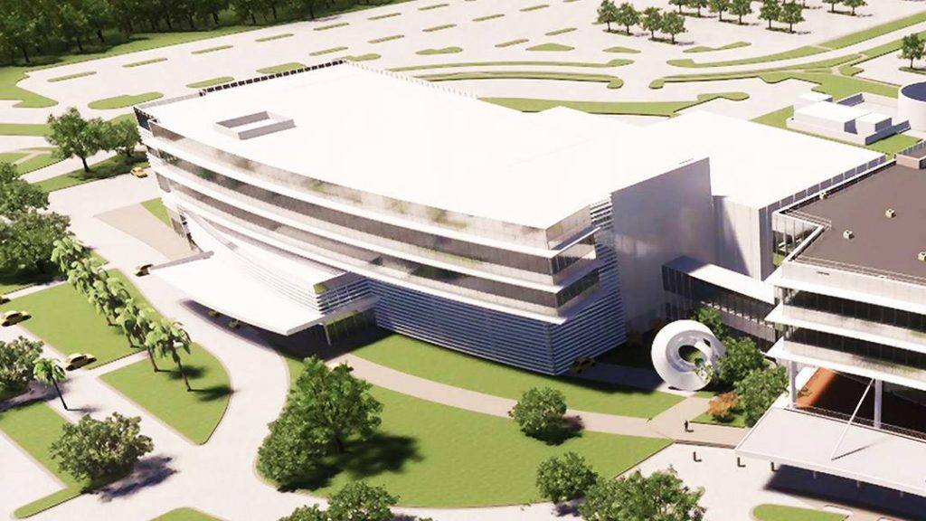 rendered image of the integrated oncology facility