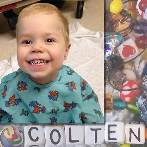 In the Loop patient Colten Robertson and his Beads of Courage