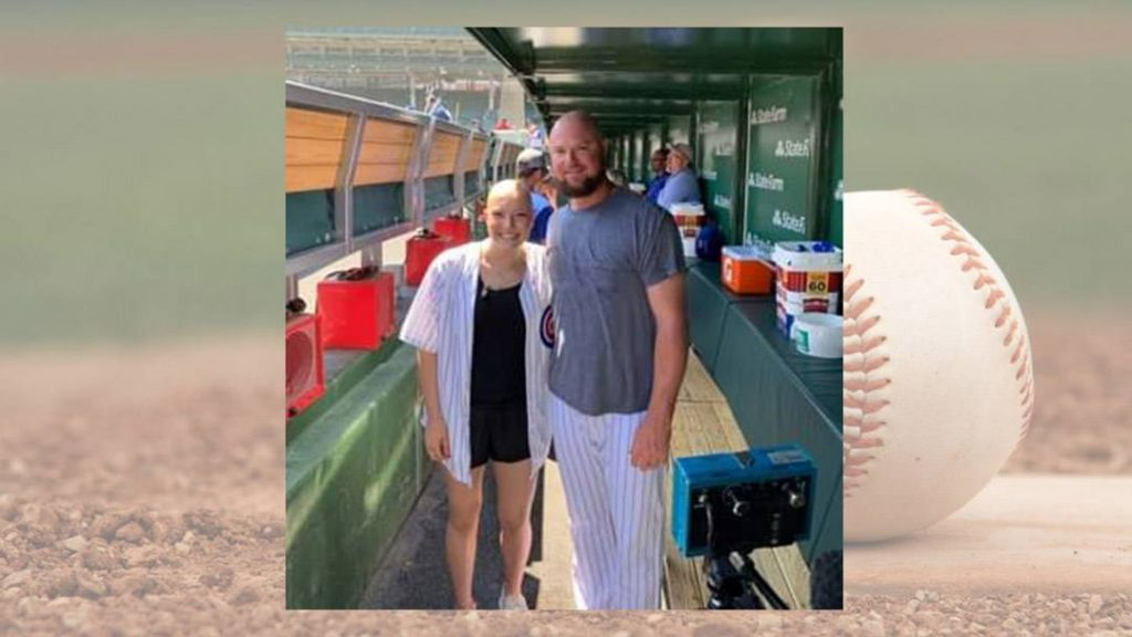 In the Loop patient Ashlyn Clark with Chicago Cubs pitcher Jon Lester