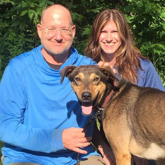 Sharing Mayo Clinic leukemia patient Rick Minard with his wife and dog