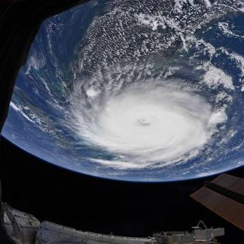NASA image of Hurricane Dorian taken by astronaut Christina Koch from the International Space Station