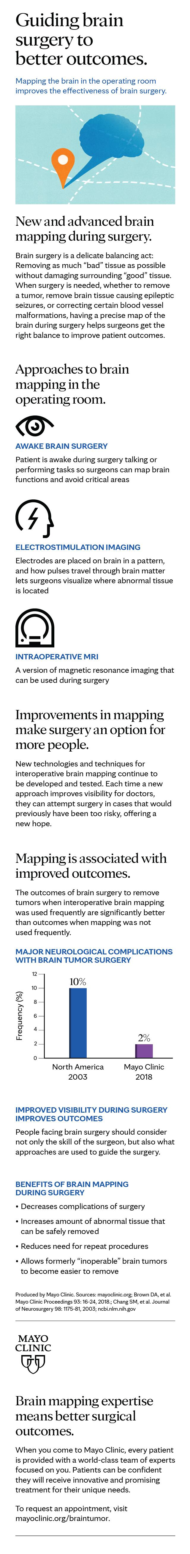 Infographic about brain surgery and brain mapping