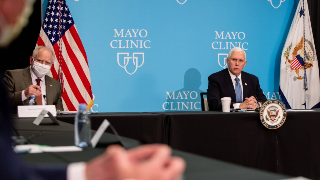 Vice President Pence and Gov. Walz at Mayo Clinic Round table discussion