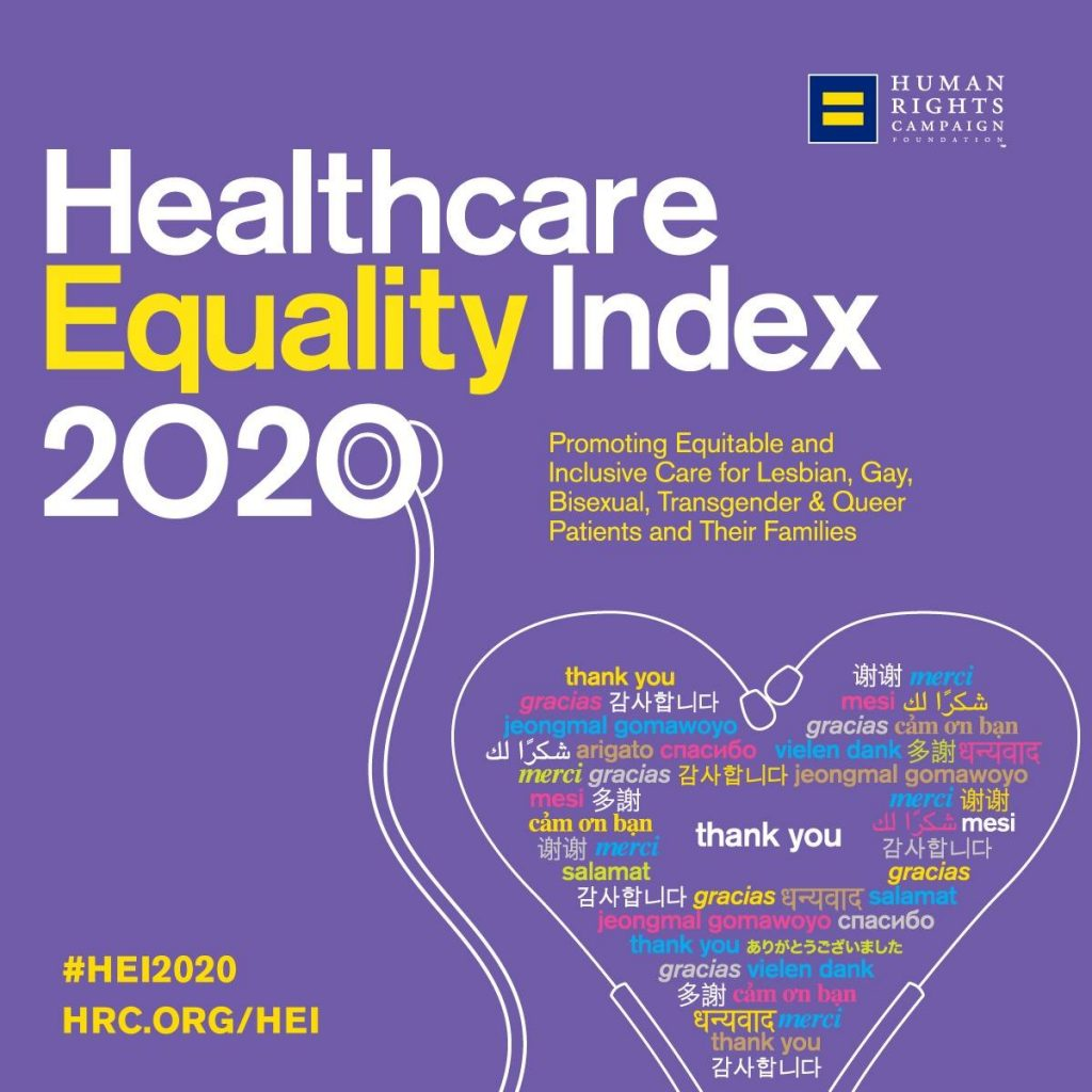 Healthcare Equality Index 2020 graphic logo