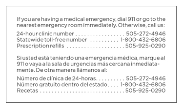 clinic card back side image