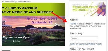 Subscribe to the Mayo Clinic Regenerative Medicine Blog