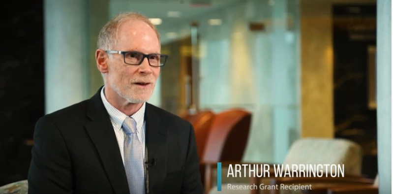 Improving remyelination for spinal cord injury: Arthur Warrington, Ph.D.