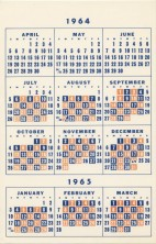 Blue Orange calendar