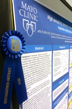 The NACB Distinguished Abstract Award for John Mills, Ph.D. and several other Mayo Clinic authors