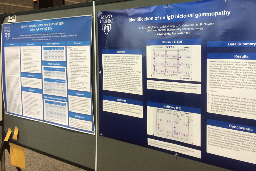 There are 16 posters in today's AACC 2014 poster session. Congratulations to our authors!