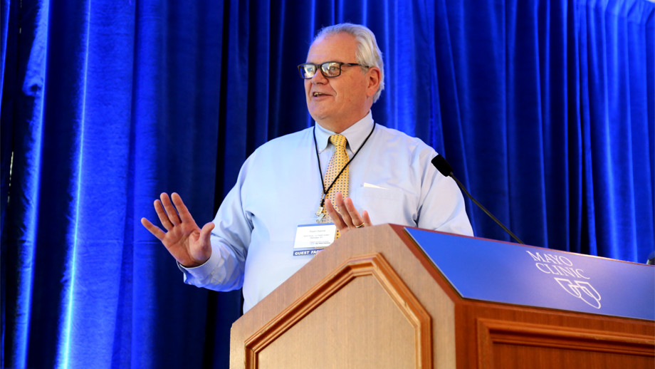 Delivering a boost of energy after lunch, Bob Stallone tells the story of North Shore-LIJ Health System Laboratories.