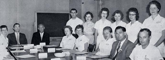 New employee orientation in 1960.
