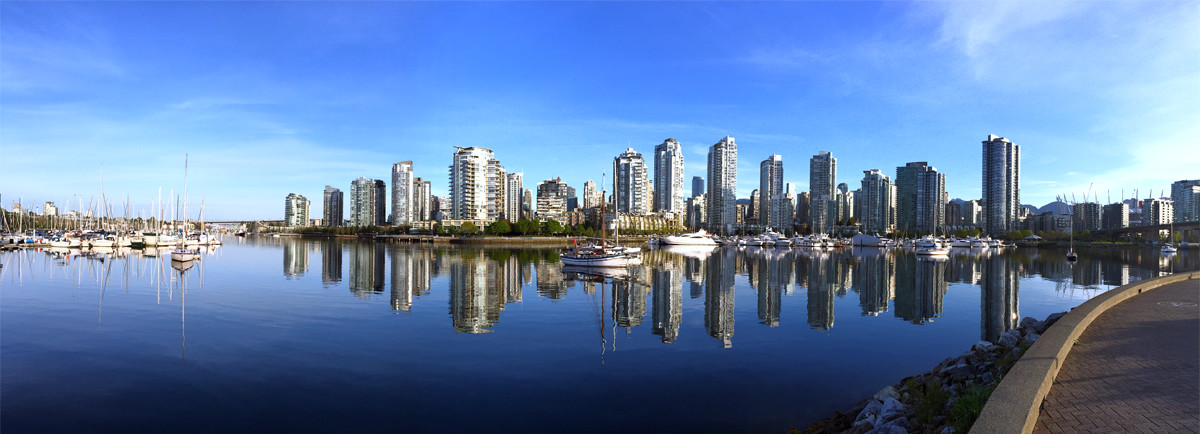 A picture-perfect morning for a run along the seaside pedestrian path in Downtown Vancouver.