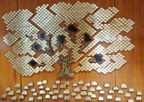 "The ""Tree of Life"" honors gifts to the Poverello Foundation."