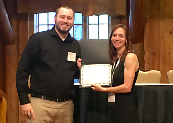 Ross Rowsey, Ph.D., received a student award for his abstract.