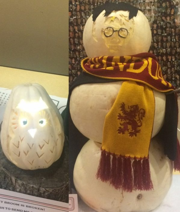 Harry Potter and Hedwig, look at those intricate details!