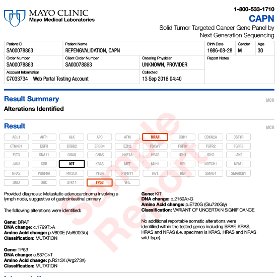 Example Report: CAPN