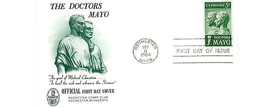 1964: Postage Stamp Honors the Mayo Brothers