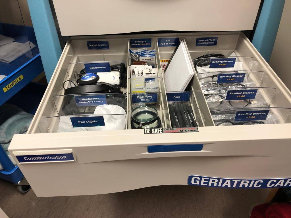 Geriatric Cart to provide comfort to seniors in the Emergency Department