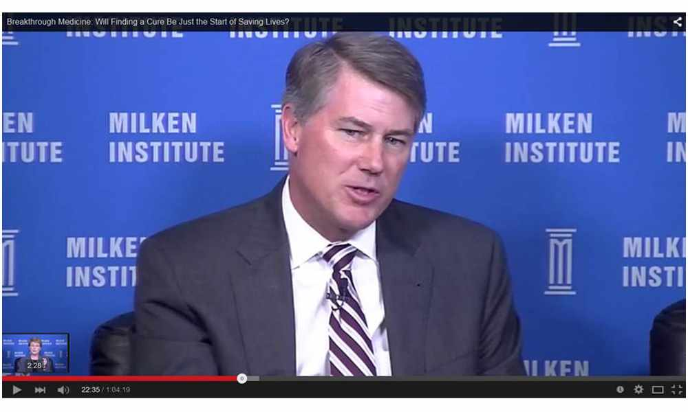 Decker at Milken Institute