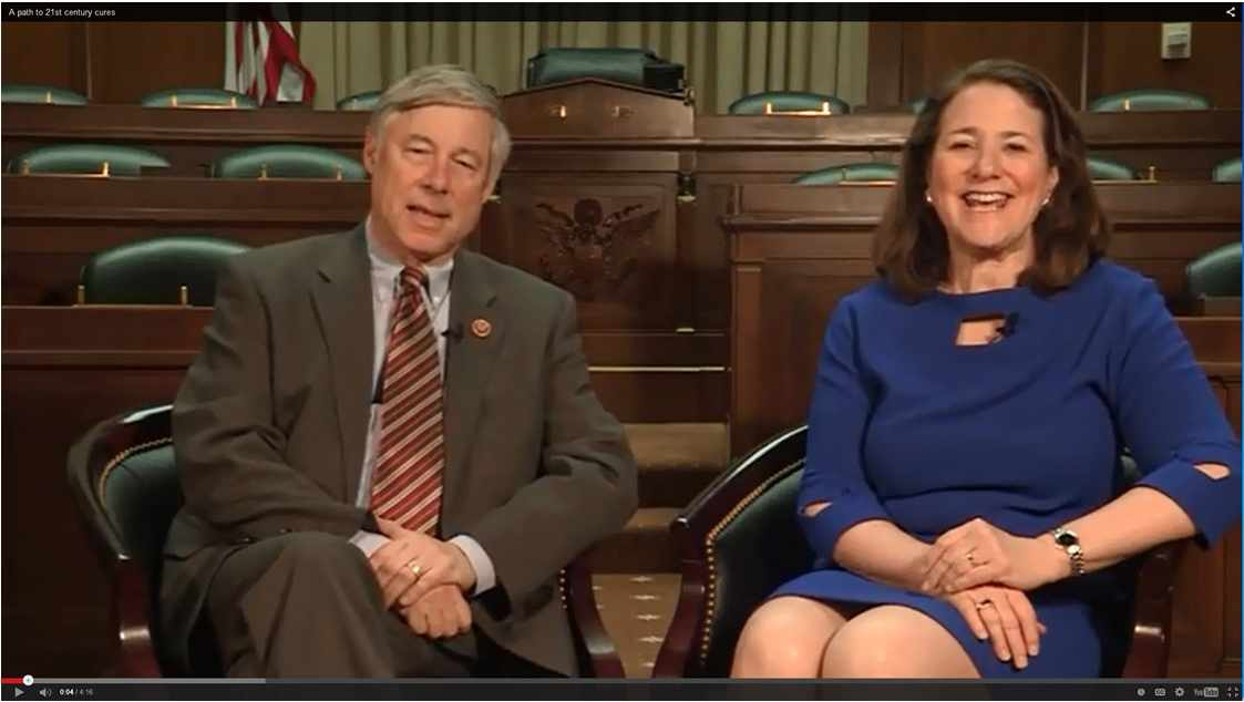 U.S. Representatives Fred Upton (R-Mich.) and Diana DeGette (D-Colo.) discuss the 21st Century Cures Act.