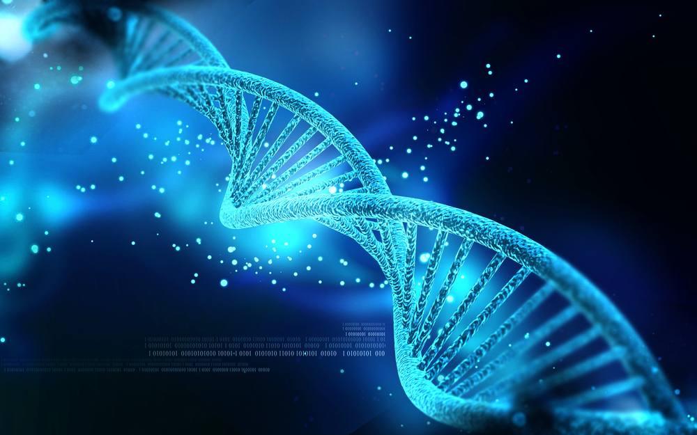 DNA Strand Blue