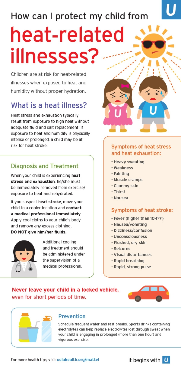 How can I protect my child from heat-related illness?