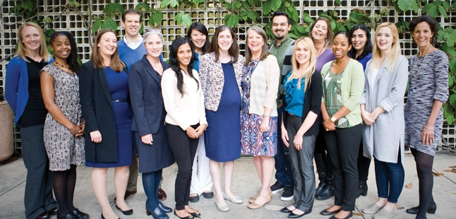From left to right: Myke Federman, MD, Valencia Walker, MD, Rebecca Wilkinson, Robert Kelly, MD, Karen Miotto, MD, Kanchana Wijesekera, PhD, Michelle Wu, MD, Jessica Lloyd, MD, Brenda Bursch, PhD, Samuel Martinez, MD, Ashley Jupin, Barbara Housel, Maegan Sinclair Cortez, Wendy Barrera, Alex Klomhaus, and Wendy Slusser, MD.