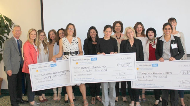 A total of $210,000 was awarded to three pediatric physician-scientist at the Today's and Tomorrow's Children Fund Faculty Presentations and Awards Day held at Mattel Children's Hospital UCLA on April 21, 2016. Photo credit: Don Ponturo