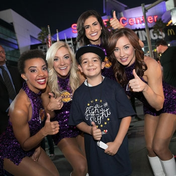 Rey with the Laker Girls