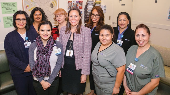 Staff at UCLA OB/GYN at West Medical provide critical care and support for a diverse patient population.