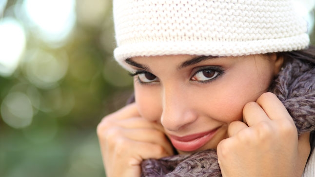 "While winter skies may look dreary, protecting your skin is still ""in""!"
