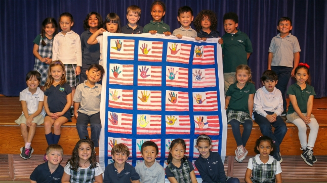 Kindergarten class supports wounded veterans with homemade 'quilt of valor'